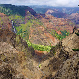 Waipo'o Falls Waimea Canyon by Kevin Smith