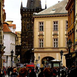 Walking In Prague by Ira Shander
