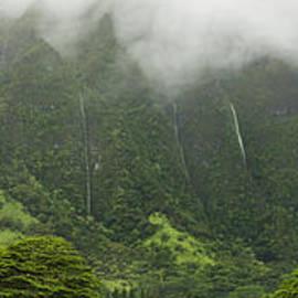 Wall Of Waterfalls - Pali Mountains - Oahu Hawaii by Brian Harig