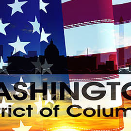 Washington Dc Patriotic Large Cityscape by Angelina Tamez
