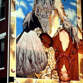 Washington in Drag Mural in Washinton Park Cincinnati by Kathy Barney