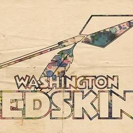 Washington Redskins Vintage Logo by Florian Rodarte