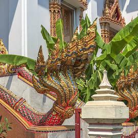 Wat Dokmai Phra Ubosot Stair Naga DTHB1783 by Gerry Gantt