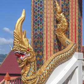 Wat Khosit Wihan Ubosot Stair Naga DTHP0582 by Gerry Gantt