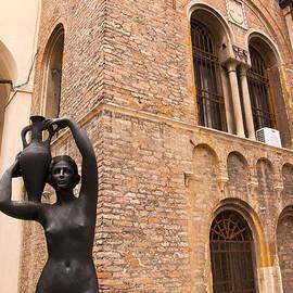 Watercarrier In Town Hall In Padua by Brenda Kean