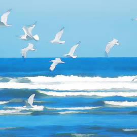 Watercolor Gulls by Allan Van Gasbeck