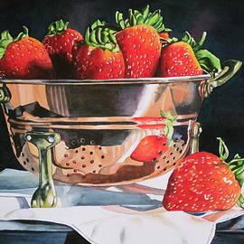 Watercolour strawberries in copper by Lillian  Bell