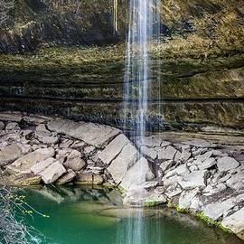 Waterfall at Hamilton Pool by David Morefield