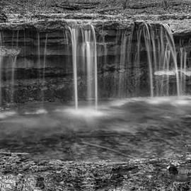 Waterfall in Winter - Platte River State Park by Nikolyn McDonald