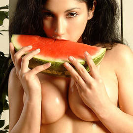 Watermelon Girl by Angelique Caplette
