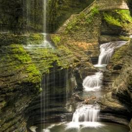 Watkins Glen Rainbow Falls by Anthony Sacco