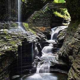 Frozen in Time Fine Art Photography - Watkins Glen Rainbow Falls