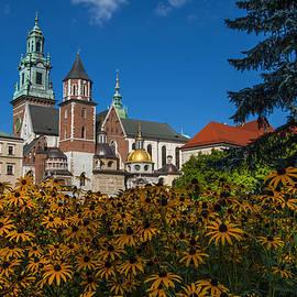 Wawel Castle In Krakow Poland With Flowers by Pam  Elliott