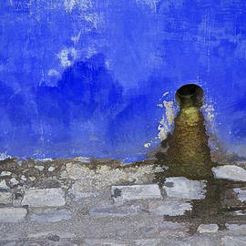 David Letts - Weathered Blue Wall of Old World Europe
