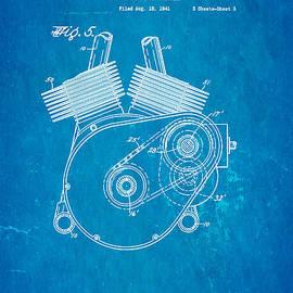 Ian Monk - Weaver Indian Motorcycle Shaft Drive 2 Patent Art 1943 Blueprint