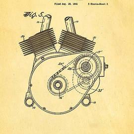 Ian Monk - Weaver Indian Motorcycle Shaft Drive 2 Patent Art 1943