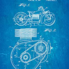 Ian Monk - Weaver Indian Motorcycle Shaft Drive Patent Art 1943 Blueprint