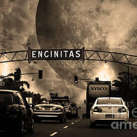 Wingsdomain Art and Photography - Welcome To Encinitas California 5D24221 sepia