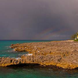 West Bay Triple Rainbow by Brenda Jacobs