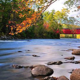 Thomas Schoeller - West Cornwall Covered Bridge- Autumn