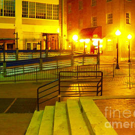 ARTography by Pamela Smale Williams - West End Night Lighted Steps