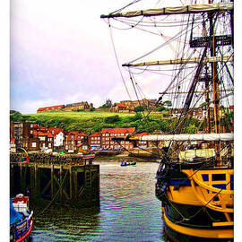 Joan  Minchak - Whitby Harbor North Yorkshire