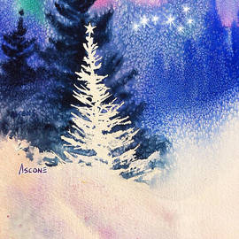 White Christmas Tree by Teresa Ascone