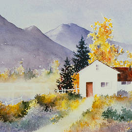White Fence in Autumn by Teresa Ascone