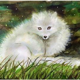White fox by Katerina Kovatcheva