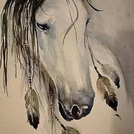 White Horse Listening by Johnnie Stanfield