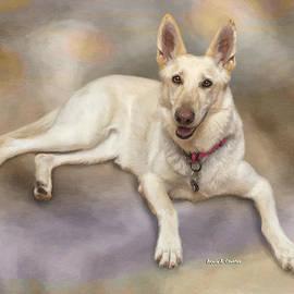 Angela A Stanton - White Shepherd Dog