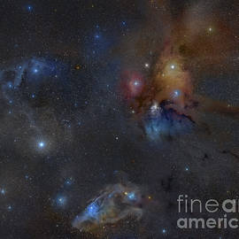 Wide Field Of The Area Around Rho by Rogelio Bernal Andreo