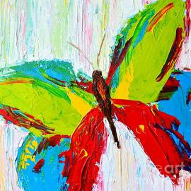 Wild Butterflies - Modern Impressionistic Art - Palette Knife Colorful Painting by Patricia Awapara