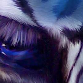 Wild Eyes - Zebra Blue by Carol Cavalaris