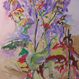 Esther Newman-Cohen - Wildflowers Tryptich 2