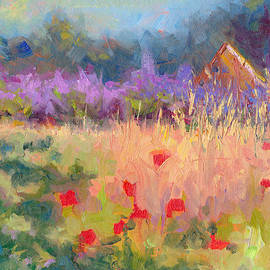 Talya Johnson - Wildrain Retreat - lavender and poppies