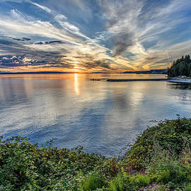 Willingdon Beach sunset HDR by Pierre Leclerc Photography
