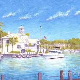 Yacht at Hilton Head Island by Jerome Stumphauzer