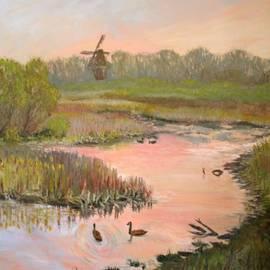 Windmill on the Waterfront by Art Nomad Sandra  Hansen
