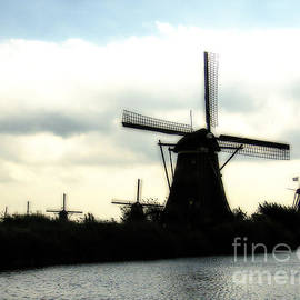 Windmills in the Netherlands by Patricia Hofmeester