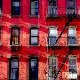 Miriam Danar - Windows Framed in Red - Architecture and Windows of New York City