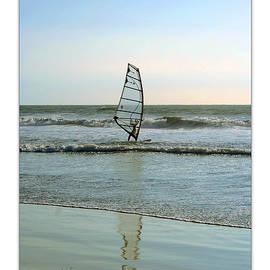 Ben and Raisa Gertsberg - Windsurfing Art Poster - California Collection