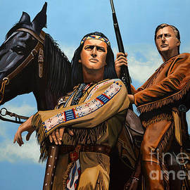 Winnetou and Old Shatterhand by Paul Meijering
