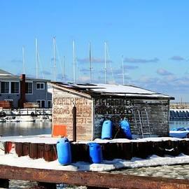 Michael Allen - Winter At The Olcott Beach Fishing Shack