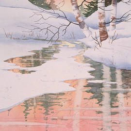 Teresa Ascone - Winter Birch Reflections