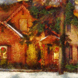 Winter - Christmas - The warmth of a gingerbread house by Mike Savad