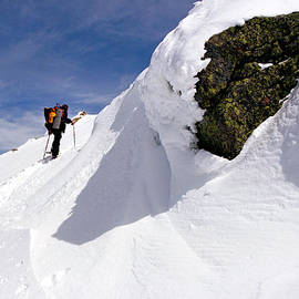 Winter Climb On Mount Lafayette by Ken Stampfer