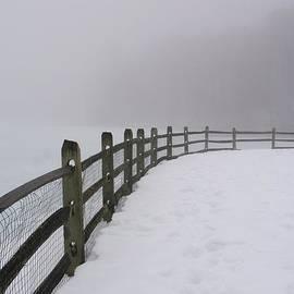 Winter Fence by Karen Silvestri