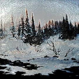 Winter Lake Sunset by Hanne Lore Koehler