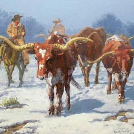 Winter Longhorns by Randy Follis